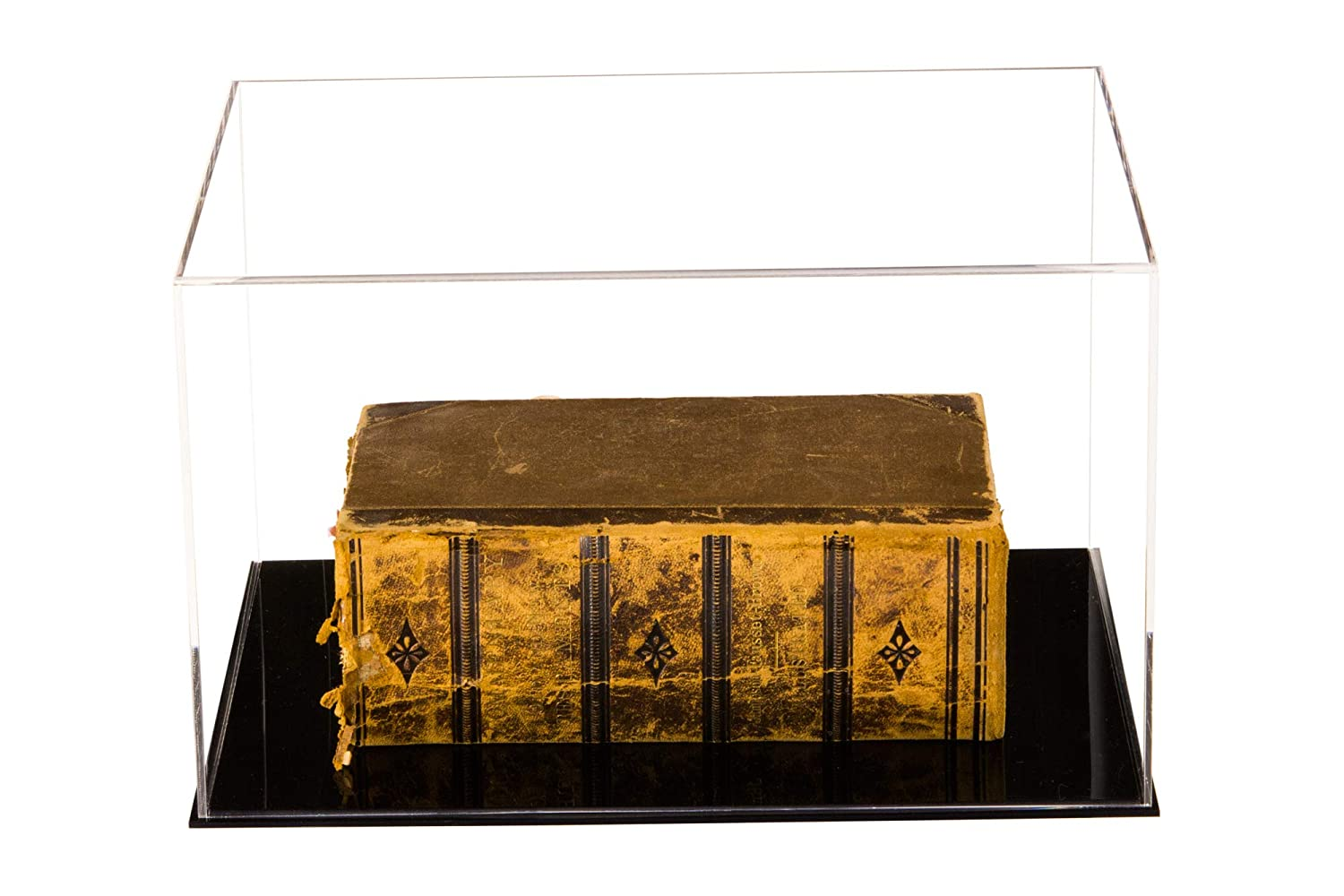 A084 Deluxe Clear Acrylic Table Top Display Case for Collectable Book