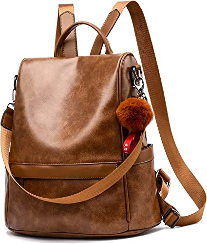 Best Camel bags for work Backpack Purse for Women Handmade Italian Soft Leather Shoulder Bag Ladies Casual Daypack 10 Best gifts for wife