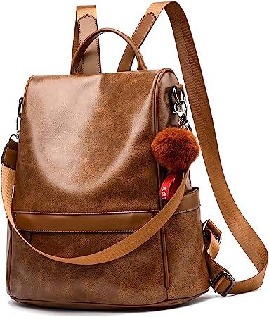 Cheruty Women Backpack Purse PU Leather Anti-theft Casual Shoulder Bag