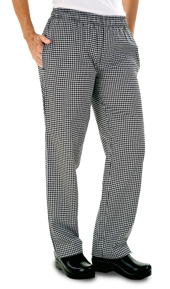 Women's Houndstooth Chef Pant (XS-3X) (Medium) by ChefUniforms.com