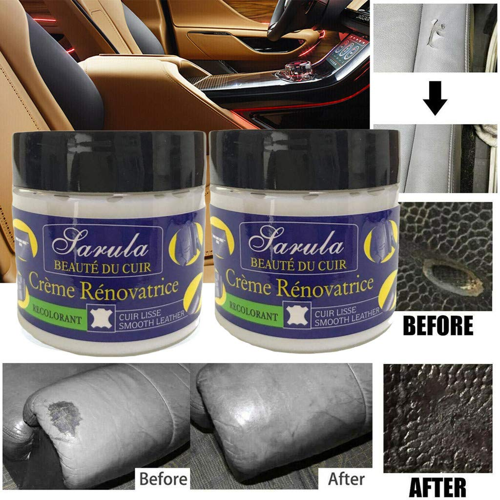 Gocheaper Leather Care Leather Repair Cream For Leather Restoration Cracks Burns and Holes (F, 2Pcs Cream) by Gocheaper