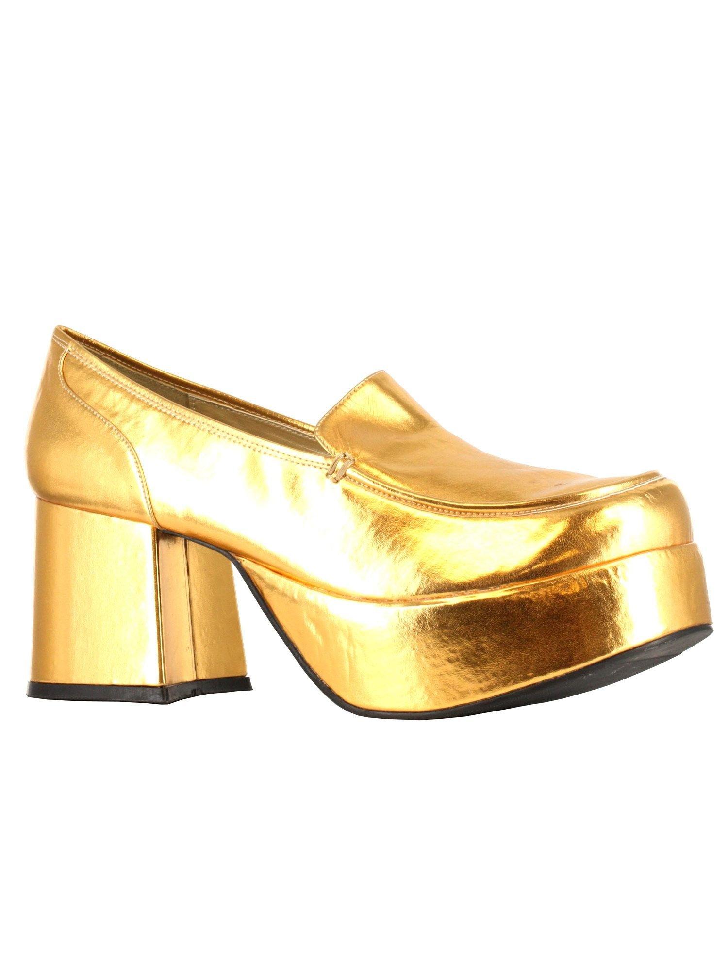 Ellie Shoes Men's 3'' Heel Pimp Shoe. Mens. S GLD