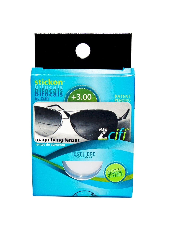 Lentes Adhesivas de Lectura para Gafas de Sol / Lentes de lectura Bifocales / LHZ (+3.00)
