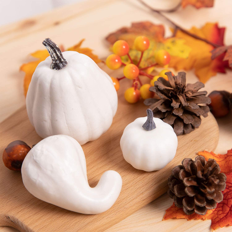tavolo e camino giardino per Halloween Natale assortite casa Whaline per autunno e Ringraziamento zucche artificiali in schiuma artificiale 10 pezzi