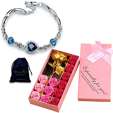 25aefc1c17a5 Young   Forever valentine gifts for girlfriend valentine gift for boyfriend  love Combo of 24 K