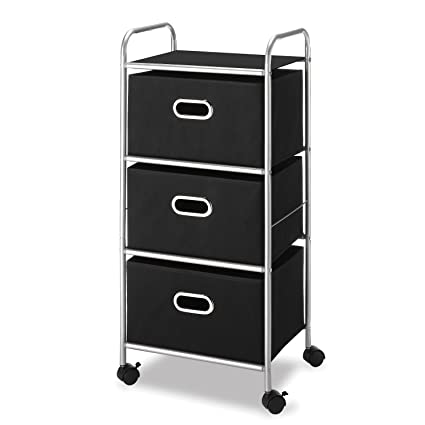 Whitmor 3 Drawer Rolling Cart   Home And Office Storage Organizer
