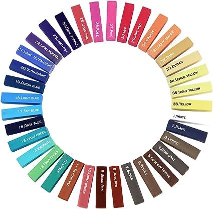DIY 36 colores Highlight no tóxico temporal tiza de tinte ...