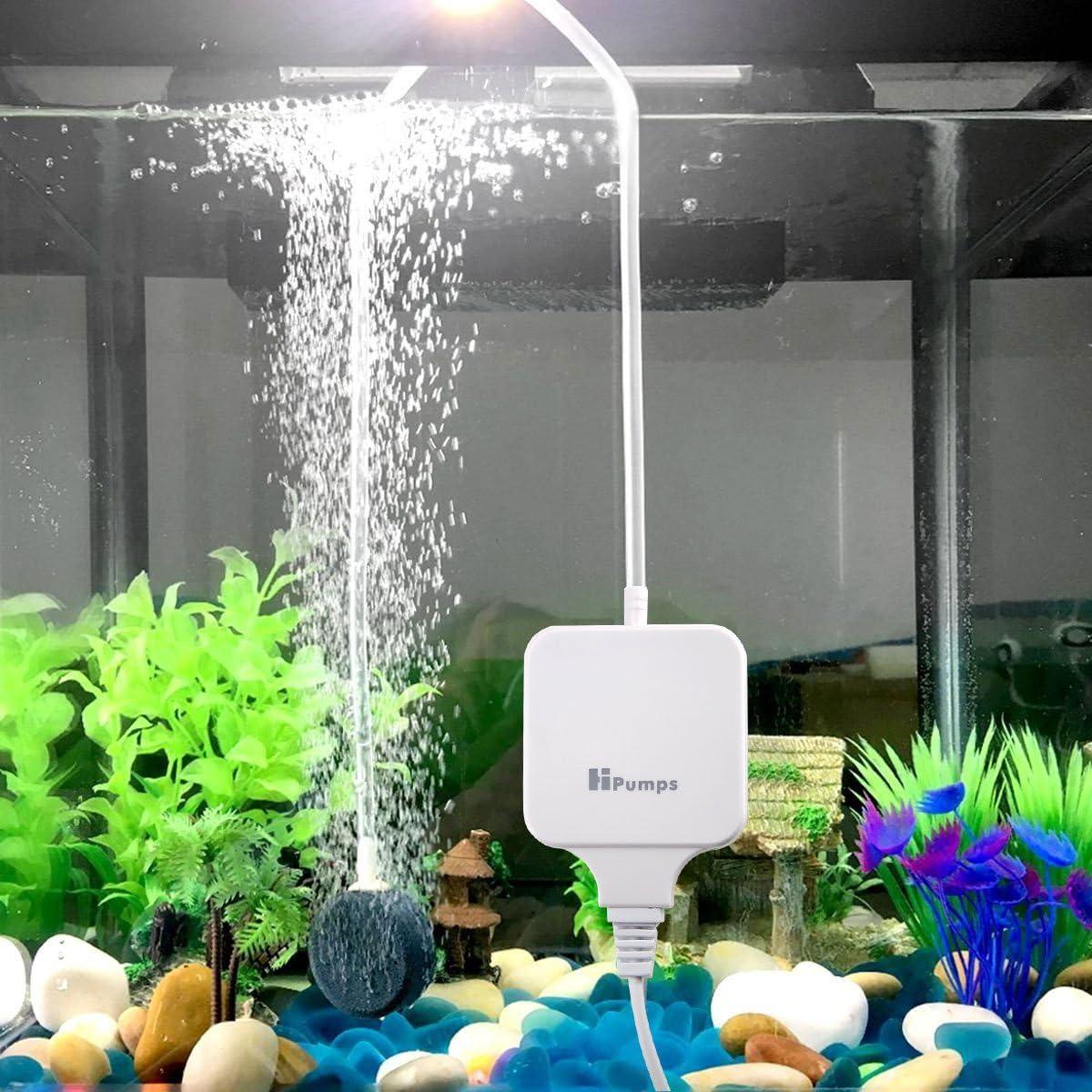 Super Silent High Efficient Oxygen Breathe Water Air Pump for Fish Tank with Filter Air Stone and Tube Hpumps Aquarium Air Pump