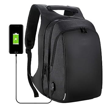 OOFAY-BAGS Negocios Ocio Camuflaje Laptop Mochila Impermeable Cómodo 15.6 Pulgadas Puerto de USB Mochila Escolares Impermeable para Diario Negocio Trabajo ...