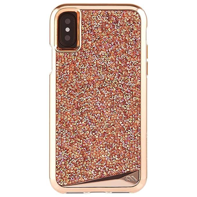 best website 60c9b 2da64 Case-Mate iPhone X Case - Brilliance - 800+ Genuine Crystals - Protective  Design for Apple iPhone 10 - Rose Gold