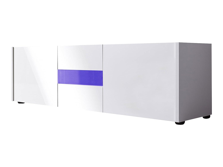 Furnline Living Room Cabinet Tv Furniture Imola White High Gloss