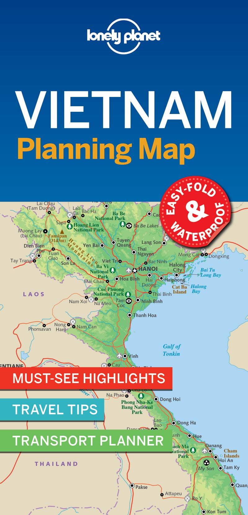 Mountains In Vietnam Map.Lonely Planet Vietnam Planning Map Lonely Planet 9781787014565