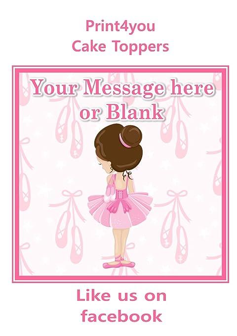 Print4you ND3 Ballet Bailarina niña Feliz cumpleaños ...