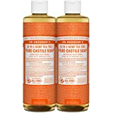 Dr. Bronner's - Pure-Castile Liquid Soap (Tea Tree, 16 ounce, 2-Pack) - Made with Organic Oils, 18-in-1 Uses: Acne-Prone Skin