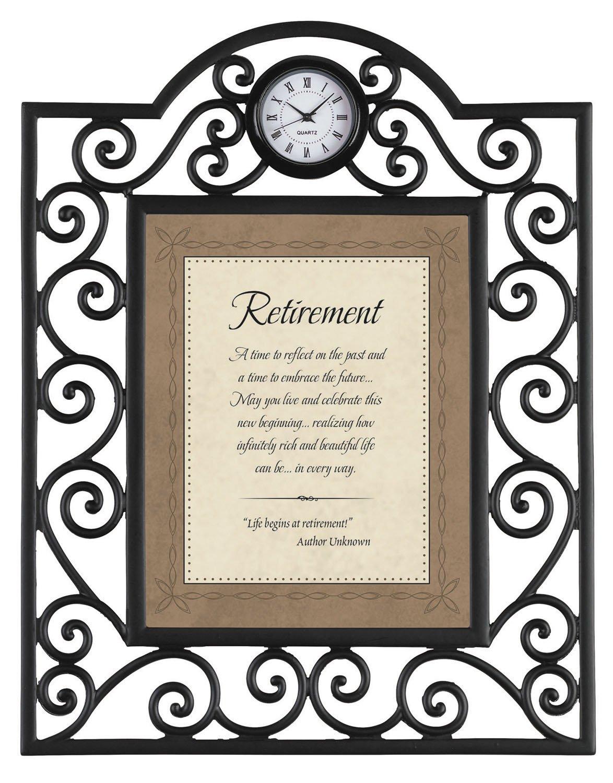 Faithworks Heartfelt Metal Framed Tabletop Clock with Scripture 7 x 9-Inches