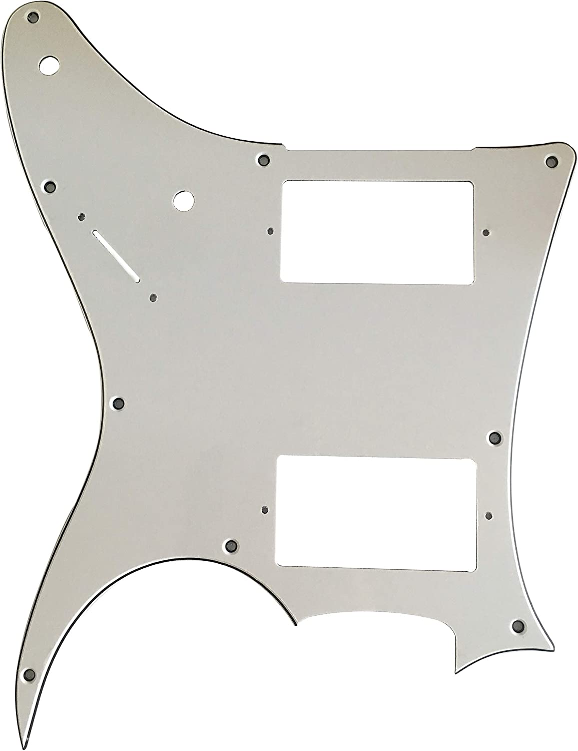 3 Ply White Guitar Parts For Ibanez MIJ RG X20 Style Guitar Pickguard