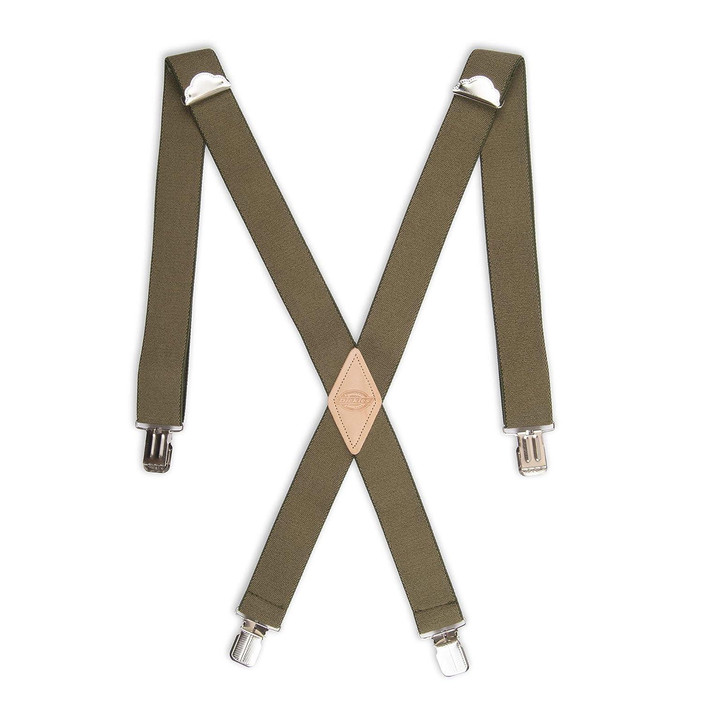 Dickies mens Dickies Men's 1-1/2 Solid Straight Clip Suspender Charcoal One Size Dickies Men' s Accessories 21DI5100