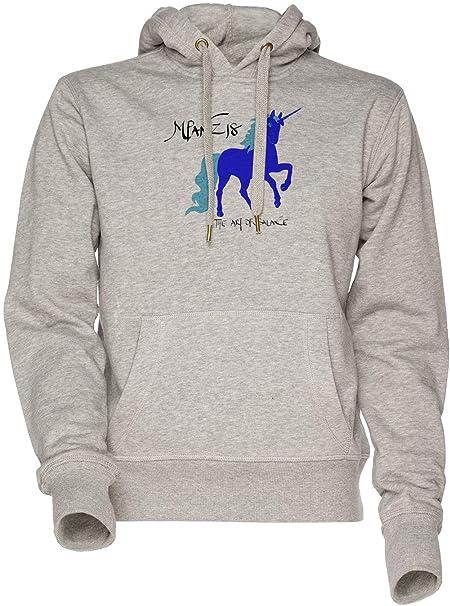 MPANZ Unicornio - Mpanz Unisexo Hombre Mujer Sudadera con Capucha Gris Mens Womens Hoodie Sweatshirt Grey