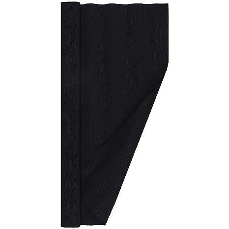 Black Crepe Paper Roll 13.3 sqft Extra Fine Italian 40 g