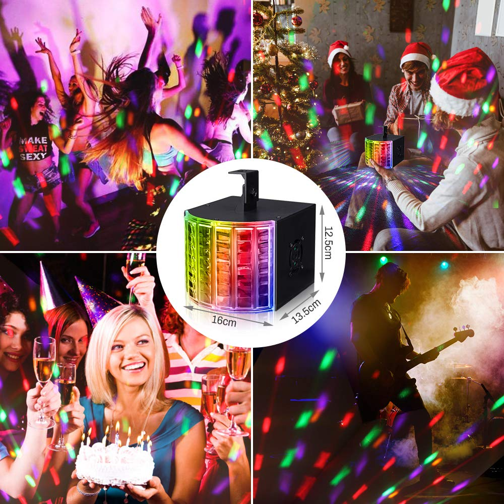 DJ Lights, SOLMORE Party Lights DMX512 Sound Actived Stage Disco Lights with Remote Control for Dance Parties Bar Karaoke Xmas Wedding Show Club 18W by SOLMORE (Image #5)