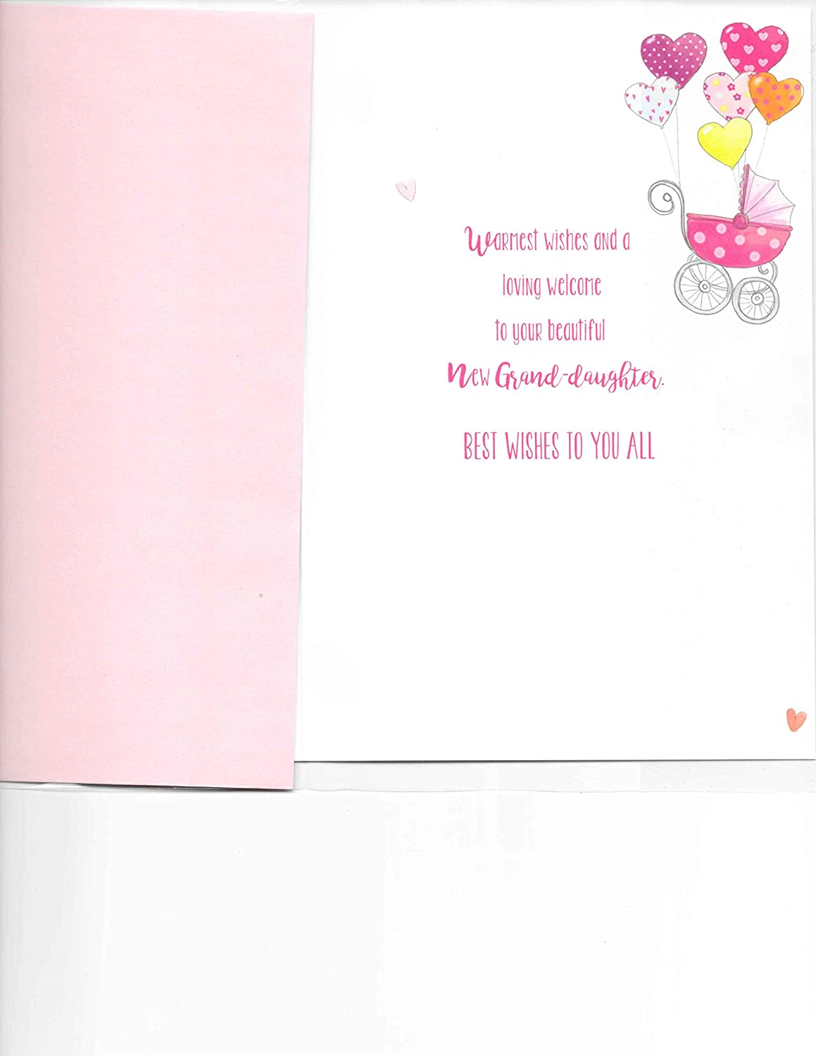 Newborn Granddaughter Greeting Card New Baby Congratulations 20 x 14 cm Quality Card On The Birth of Your Granddaughter