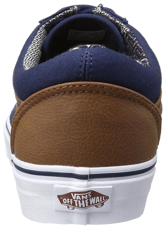 Vans Unisex Old Skool Classic Skate Shoes B01I22Q94S 11.5?B(M) US Women / 10 D(M) US Men Dress Blues/Material Mix
