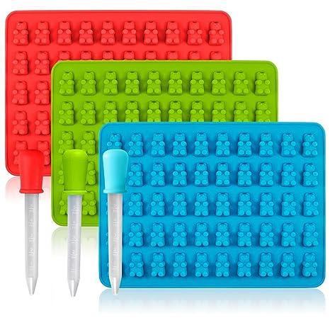 foundove osos de gominola moldes para Hard Candy & Chocolate hacer, Candy de silicona moldes