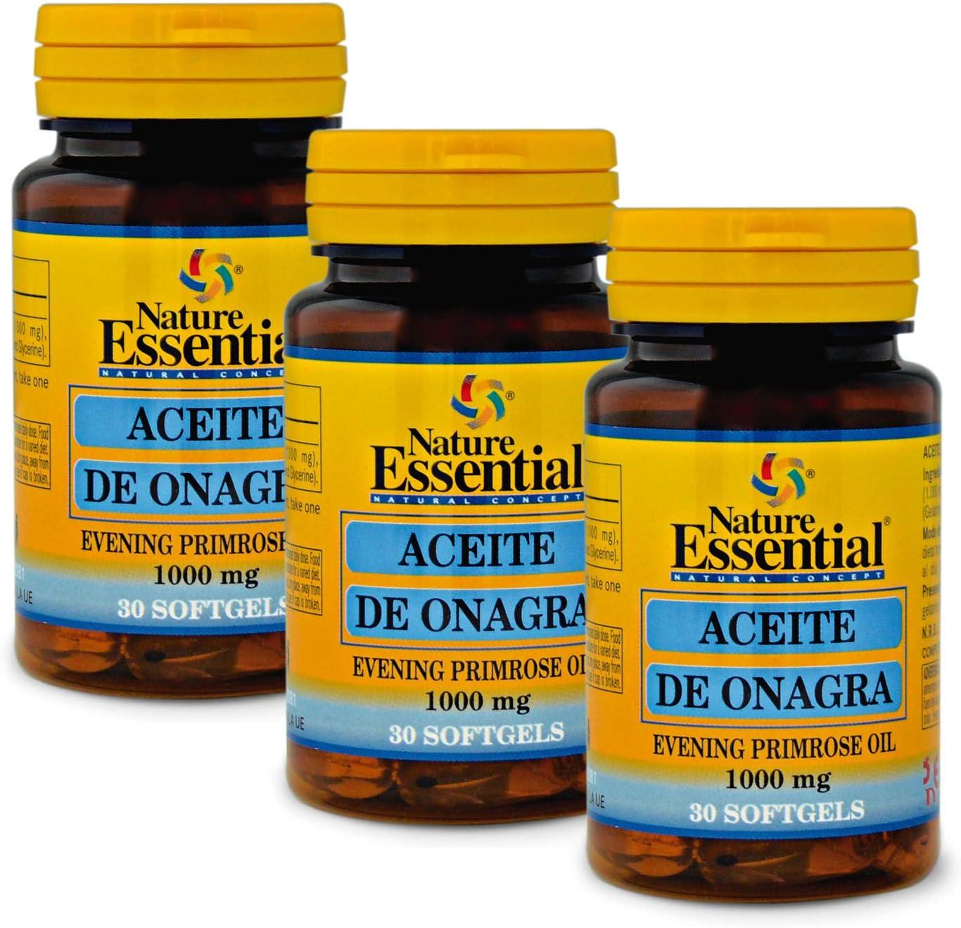 Aceite de onagra 1000 mg. (10% GLA) 30 perlas (Pack 2 unid ...