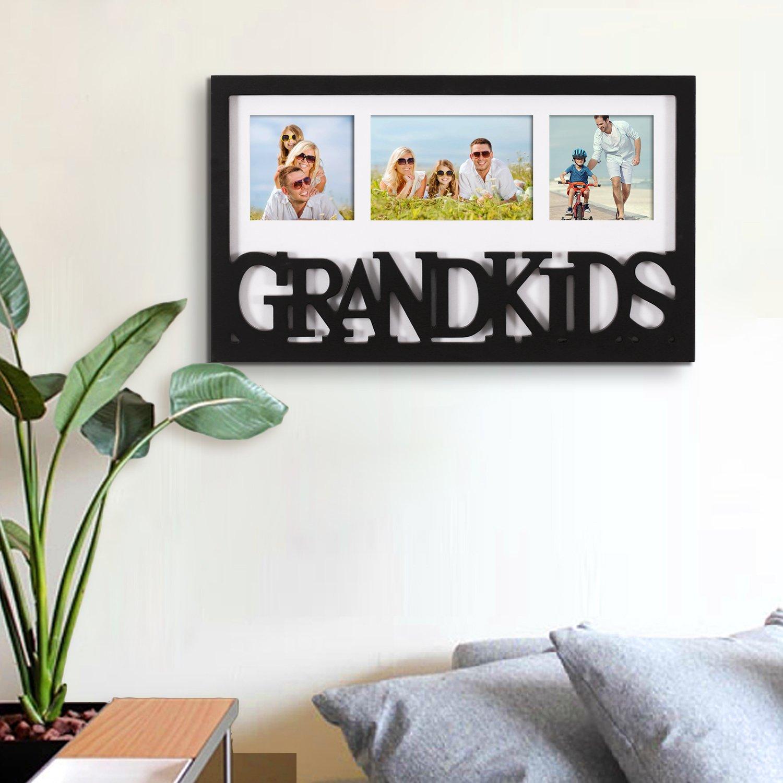 Adeco Decorative Black White Wood \'\'Grandkids\'\' Wall Hanging Artwrok ...