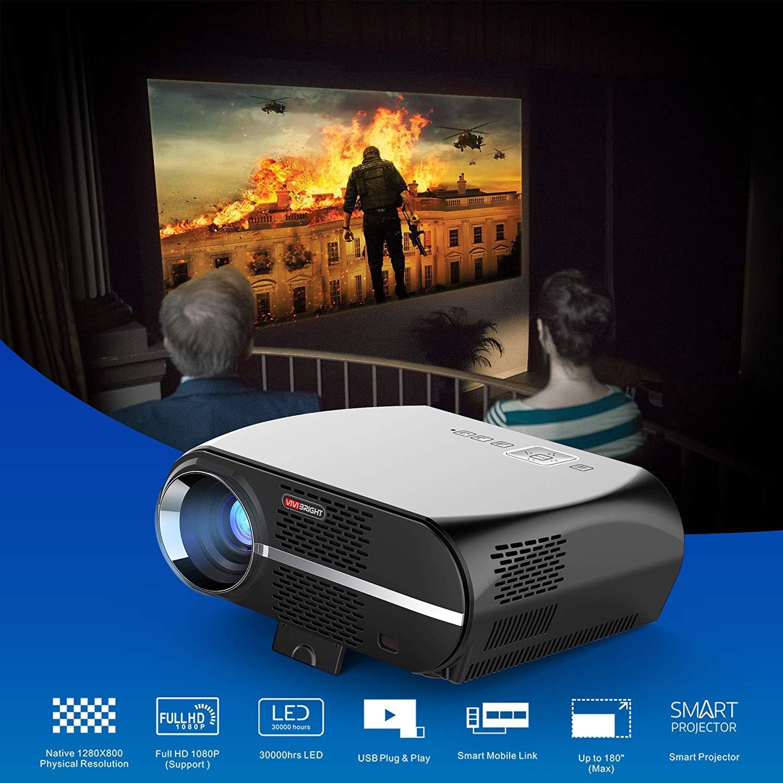 SEXTT Proyector para el hogar, proyector de Video de 5.8