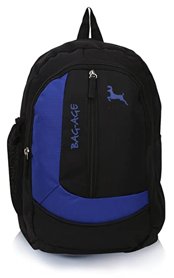fbca71023272 Bag-age Polyester 20 Ltr Black-Blue School Backpack  Amazon.in  Bags ...