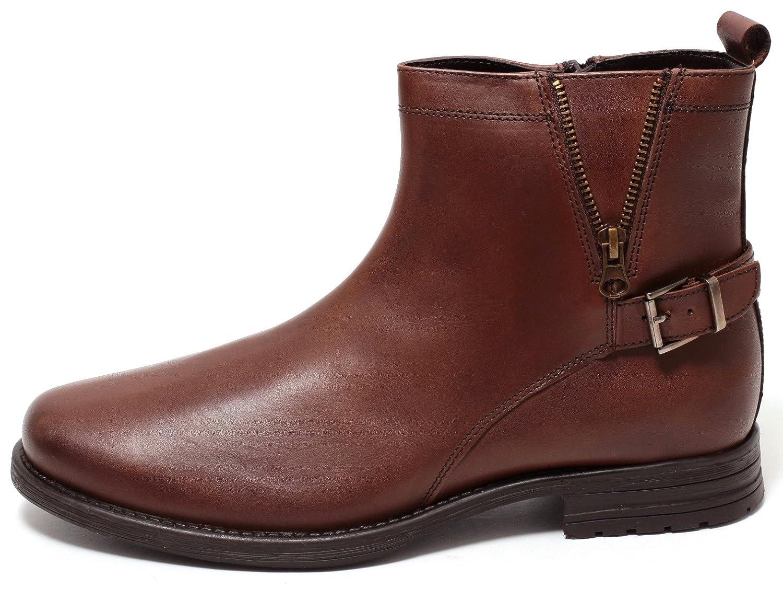 ECHT LEDER Herren Boots Lederstiefel BRAUN Stiefeletten mit Reißverschluss COGNAC BRAUN Lederstiefel Gr.41-44 - 77364e