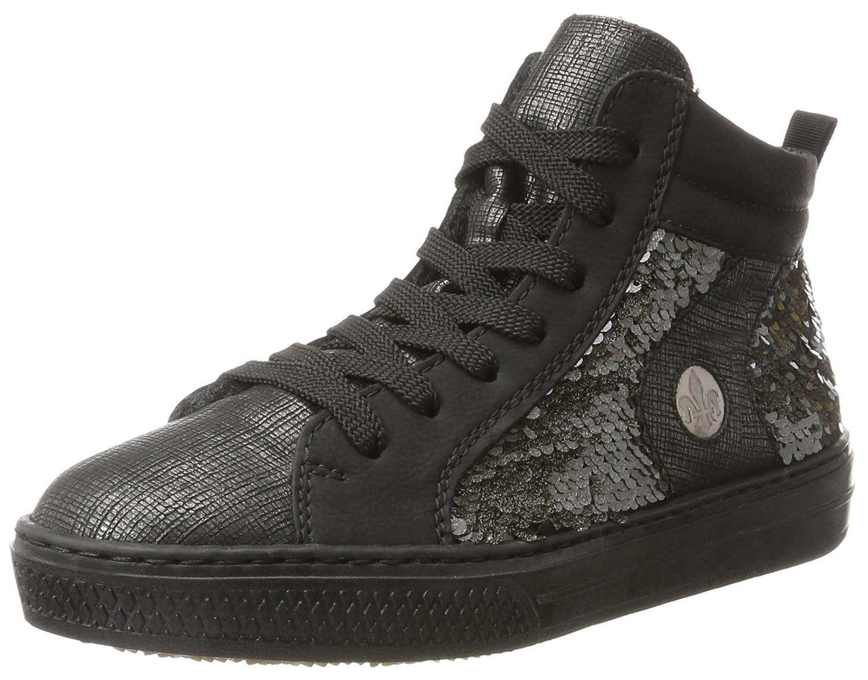 Rieker L5948, Sneakers Hautes Femme, Sneakers Gris, 36 EU Gris Rieker Gris, (Graphit/Schwarz/Anthrazit/Altsilber) 0e64984 - boatplans.space