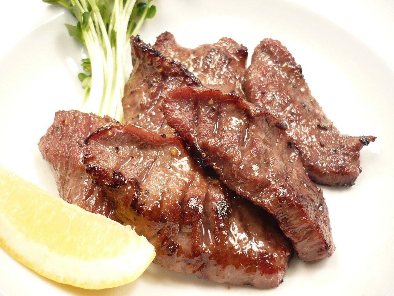 塩ダレ 厚切り 牛たん スライス 500g 味付き 牛タン塩