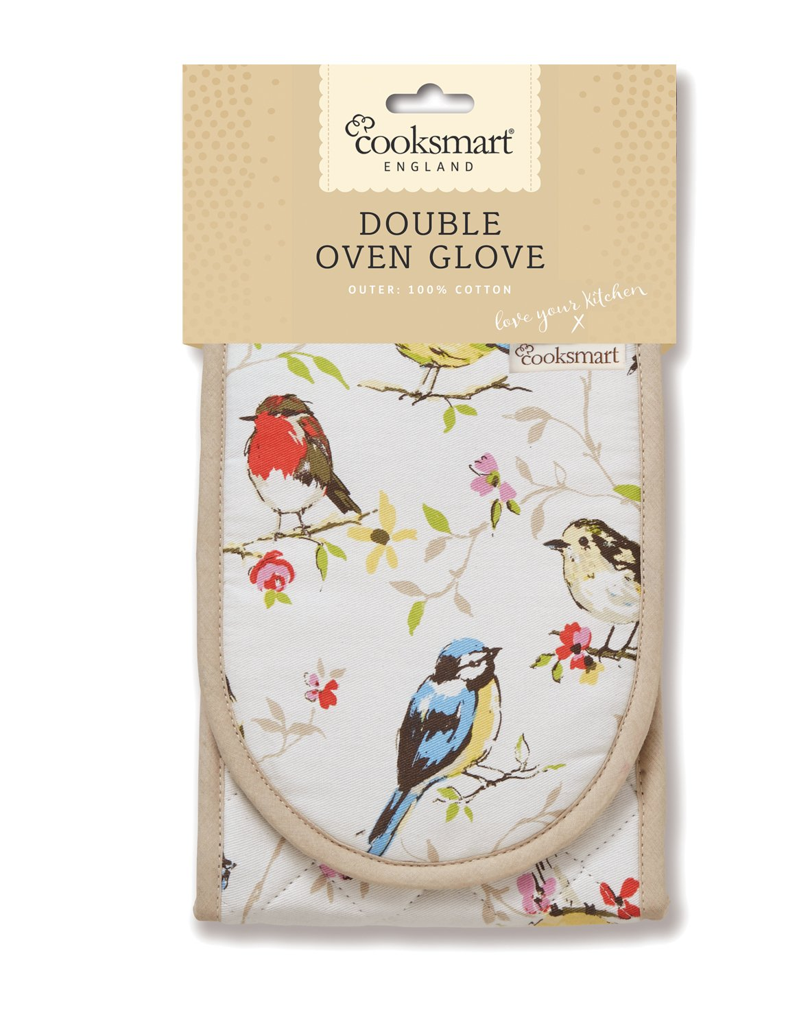 Cooksmart Dawn Chorus Double Oven Glove CITYLOOK IMPORTS LTD 9106