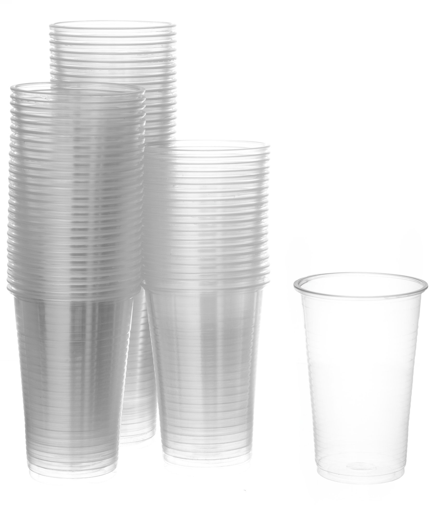 [400 Pack] Settings Large 9 Oz Clear Disposable Plastic Drinking Cups Great For Juice, Water, Soda, Beer, Use At Party, Home, Office, Picnic, BBQ, Or Event, 5 Packs Of 80