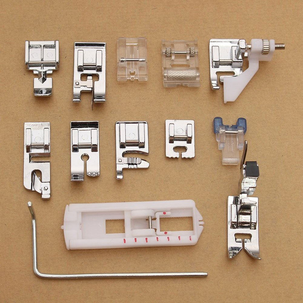 Kit 13 x prensatelas pie pies pies para máquinas de coser husqvarna Viking: Amazon.es: Electrónica