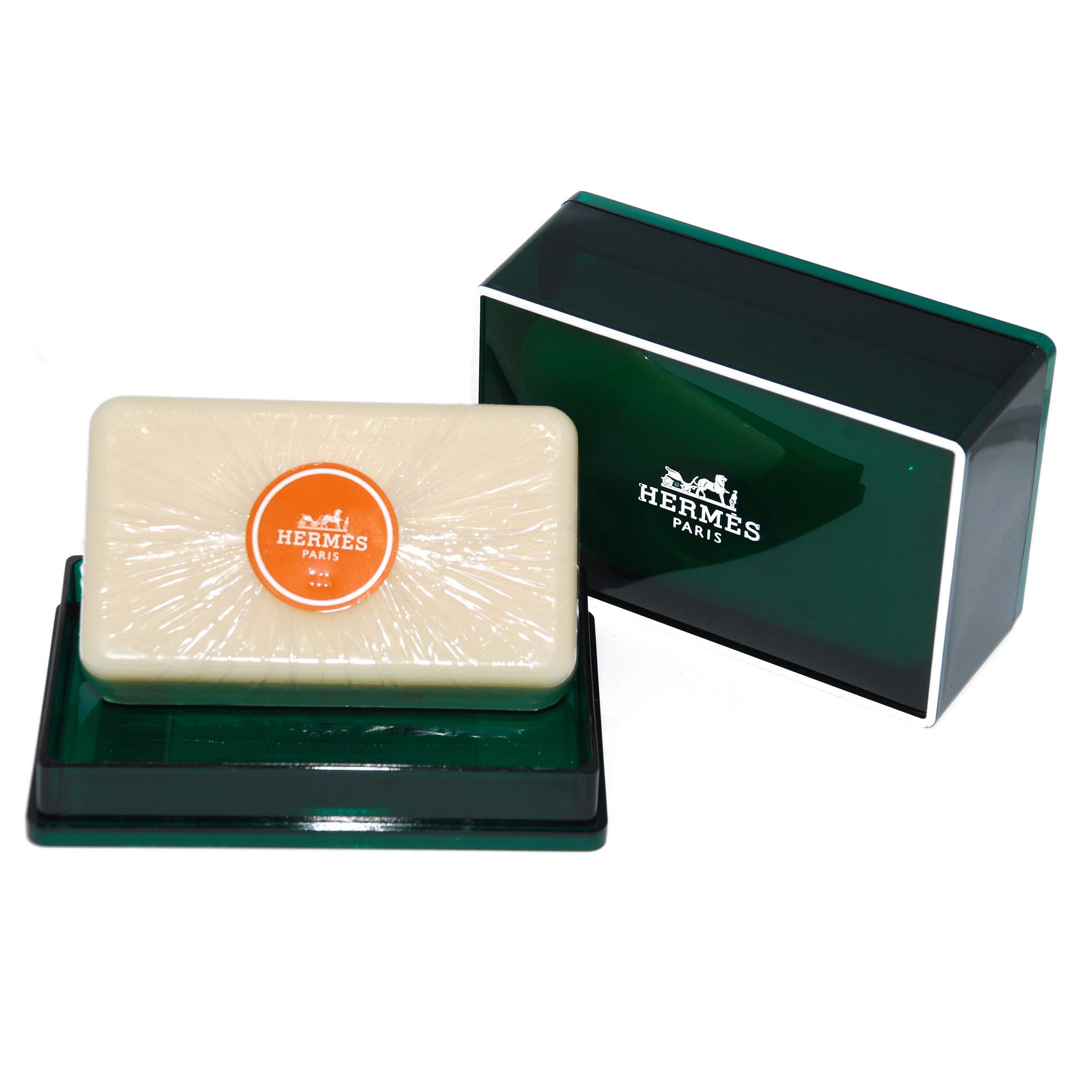 One (1) Luxury Hermès Jumbo Soap - Eau d'Orange Verte Gift Soap - Imported From Hermès Paris 5.2oz / 150g - Beautifully Gift Boxed Perfumed Soap/Savon Parfume