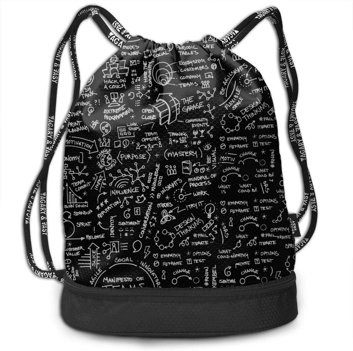 HUOPR5Q Graffiti Drawstring Backpack Sport Gym Sack Shoulder Bulk Bag Dance Bag for School Travel