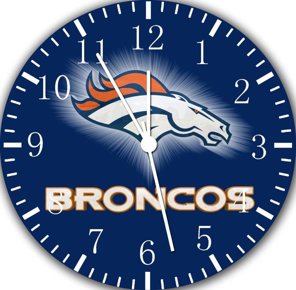 Borderless Broncos Frameless Wall Clock E94 Nice for Decor Or Gifts