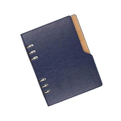 Lvcky - Agenda de Anillas (tamaño A5, Piel, con Soporte para ...