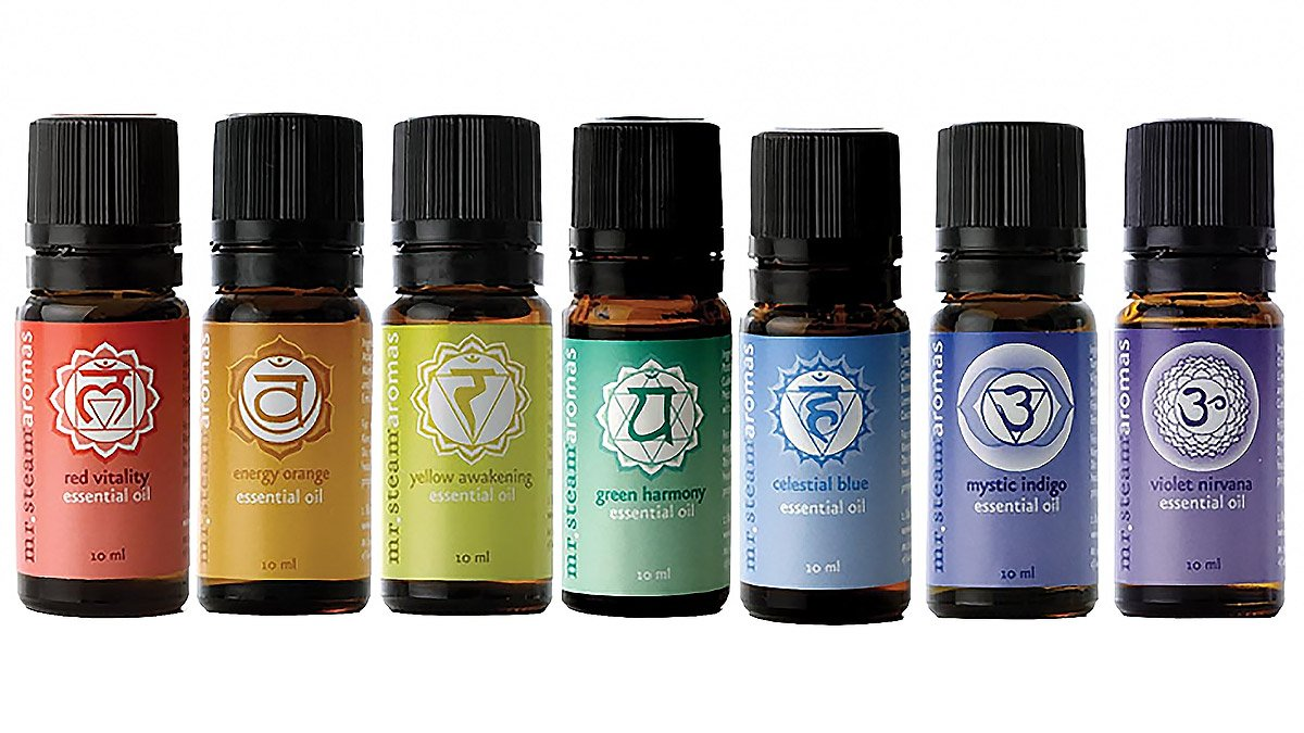 Mr. Steam Ms Chakra7 Chakra Blend Essential Oils, 7 Pack