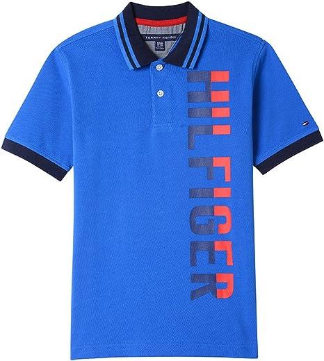 Tommy Hilfiger Niños 61E64172 Manga corta Camisa polo - Azul - M ...