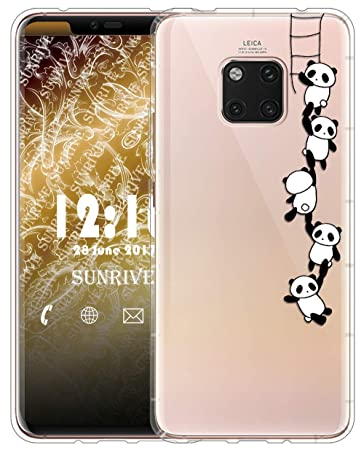 Sunrive Für Huawei Mate20 Pro Hülle Silikon, Transparent Handyhülle Luftkissen Schutzhülle Etui Case für Huawei Mate 20 Pro(T