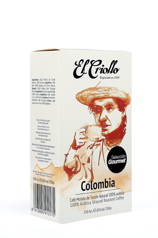 El Criollo Café Molido Selección Gourmet Colombia - Paquete de 4 x ...
