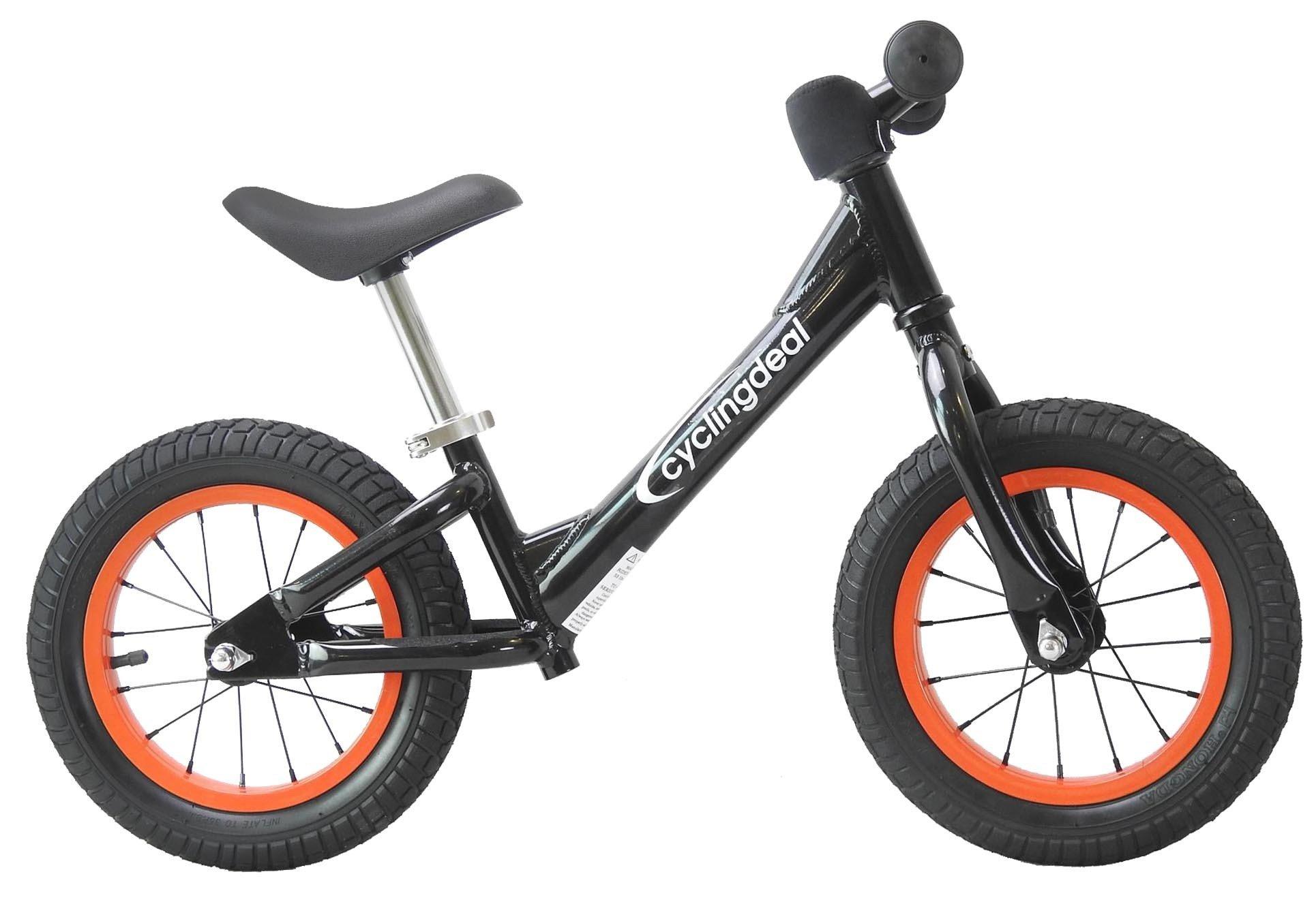 CyclingDeal Alloy Kids Push Balance No-Pedal Bike 12'' Black by CyclingDeal (Image #2)