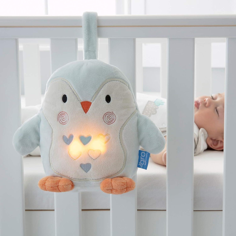 Percy le Pingouin peluche aide au sommeil sons et lumi/ères