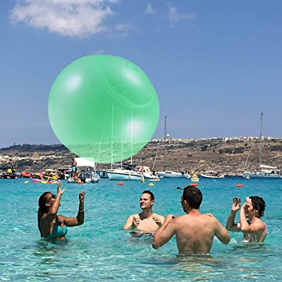 SUNJULY Inflatable Bubble Ball, Transparent Bubble Ball, Tear-Resistant Bounce Balloon, Beach Water Sports Outdoor Playing Super Soft Bubble Ball Toys-Blue, 120CM : Sports & Outdoors