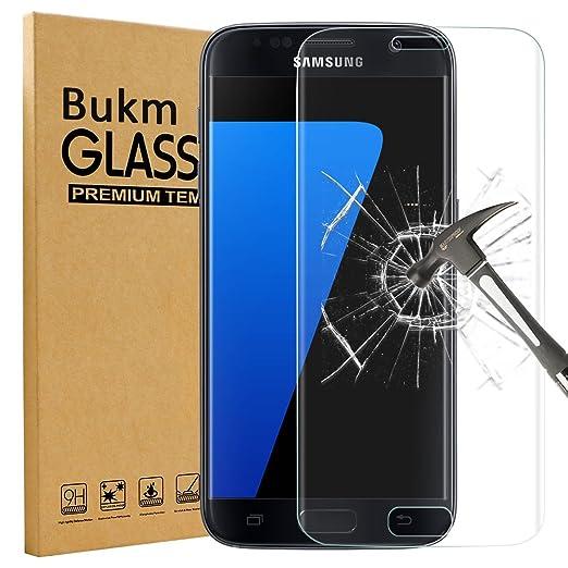 5 opinioni per Galaxy S7 Pellicola Protettiva, Bukm Pellicola Protettiva in Vetro Temperato