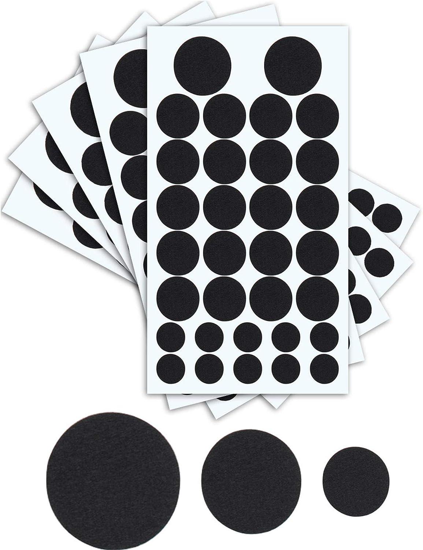 320pieces Black Adhesive Felt Circles Felt Pads Self-Adhesive Felt Sticker for Halloween DIY Dalmations Costume Professional Craft Finishing 3Size